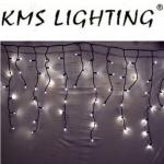 KMS LED Lichterkette Eisregen warmweiß-schwarz 100er 2x0, 7m verlängerbar