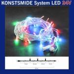 LED Lichterkette 10m 100er bunt Konstsmide 24V System 4610-503