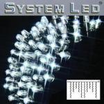 System LED Eisregen-Lichterkette Extra 2x1m 100er cool light/schwarz 465-38