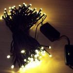 100er LED Lichterkette mit Schalter warmweiß / grün innen BI11499 xmas