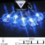 LED Lichterkette 10er Batteriebetrieb blau Gem Best Season 007-21