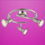 Globo LED Strahler Rail 3-flammig 3x250lm 3000K GU10 Nickel 54382-3