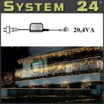 System 24 LED Trafo 20, 4 VA - Start Max. 1500 Dioden 490-00 außen xmas