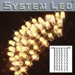 System LED Lichtervorhang 102er 1x2m warmweiss / schwarz 465-56