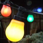 Party Lichterkette mit Energiesparlampen 10er bunt 10m F-H-S 04910