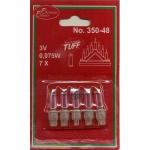 Glühbirne für Batterie-Leuchter 5er push in 3V 0, 075W 350-48
