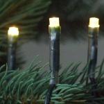 LED Lichterkette 80er warmweiß / grün 8m aussen 04682