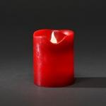 LED Echtwachskerze 10cm rot Lichtsensor Konstsmide 1967-550