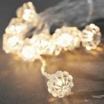 LED Dekolichterkette 10er Diamant warmweiß Batteriebetrieb 1404-103 xmas