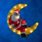 Fenstersilhouette Weihnachtsman im Mond Konstsmide 2860-000