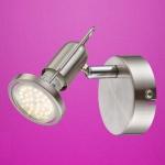 Globo LED Strahler Rail 1-flammig 250lm 3000K GU10 nickel matt 54382-1