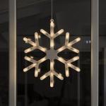 30er LED Fensterbild Fenstersilhouette Schneeflocke 41x49cm Konstsmide 4581-000