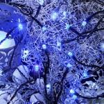 LED Lichterkette 160er 16m blau / schwarz außen Best Season 498-39