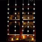 LED Lichtervorhang 40er Schneeflocke warmweiß 1x1, 2m innen / außen 06020 xmas