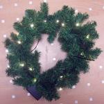 20er LED-Weihnachtskranz warmweiß 40cm Batteriebetrieb XI11890
