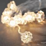 LED Dekolichterkette 10er Diamant warmweiß Batteriebetrieb 1404-103