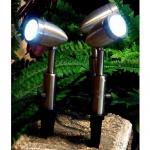 LED Edelstahl Gartenstrahler Garten-Spot 3er 27 LEDs Blachere JPR01