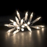 Mini-Lichterkette 35er Birnen klar / weiß innen Konstsmide 2115-002