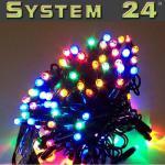 System 24 LED Lichterkette 10m start inkl. Trafo bunt 492-01-80 außen xmas