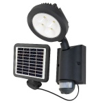 Solar LED Spot ALU Wandleuchte NEVADA IP54 Bwm Anthrazit 6102 S-PIR GR SL Lutec