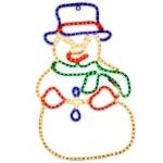 LED Lichtschlauch Silhouette Schneemann 115x75cm außen 800-85 Big Snowman xmas