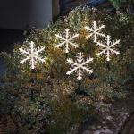LED Leuchtstäbe 5er Riesen-Acryl-Schneeflocke Konstsmide 4445-103