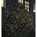 LED Pavillon Lichternetz 3x3m 200er kaltweiß-grün außen FHS 02893