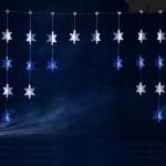 LED Lichtervorhang 30 Kristalle 120x50cm blau weiß Konstsmide 3063-243