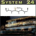 System 24 LED Flash-Lichterkette 49er 5m extra warmweiß 491-13 außen xmas