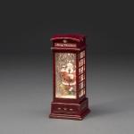 LED Telefonzelle mit Weihnachtsmann wassergefüllt Timer Konstsmide 4363-550 xmas