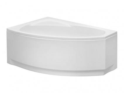 Badewanne | Wannen 150 x 100 cm Linkseinbau inkl. Wannenfuß und Ablaufgarnitur