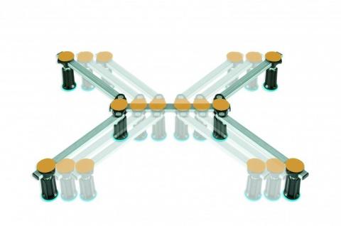 Duschwannenfuß Wannenfuß Stahl / Acryl Duschwannen 75x75 - 100x100 cm Höhenverstellbar von 100-135mm - Vorschau 3