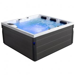 Komfortabler Aussenwhirlpool SPA Pool Schwimspas 200x200 grau
