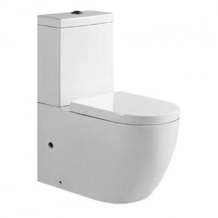 Design Stand-WC inkl.WC-Sitz Soft-Close aus Duroplast und Spülkasten mit 2 Spülfunktionen