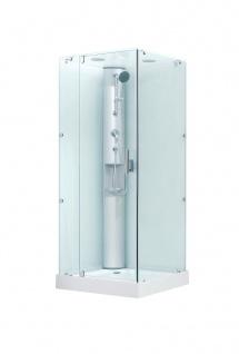 Dusche mit Rundumverglasung Duschkabine Duschabtrennung Sonderangebot aufbau ohne Silikon