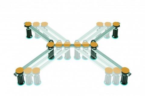 Duschwannenfuß Wannenfuß für Stahl / Acryl Duschwannen 75x75 bis 120x120cm Höhenverstellbar von 125 bis 185mm - Vorschau 3