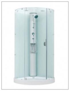 Duschkabine Dusche mit Rundumverglasug Sonderangebot aufbau ohne Silikon