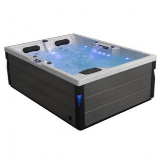 Komfortabler Aussenwhirlpool SPA Pool Schwimspas 220x160 grau