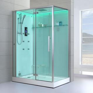 Dampfdusche Dusche Duschkabine| Schwarz | Weiß 150cm x 90cm