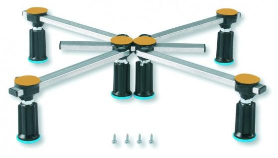 Duschwannenfuß Wannenfuß Stahl / Acryl Duschwannen 75x75 - 100x100 cm Höhenverstellbar von 100-135mm