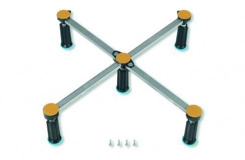 Duschwannenfuß Wannenfuß Stahl / Acryl Duschwannen 75x75-90x90cm Höhenverstellbar 125-185mm - Vorschau 1