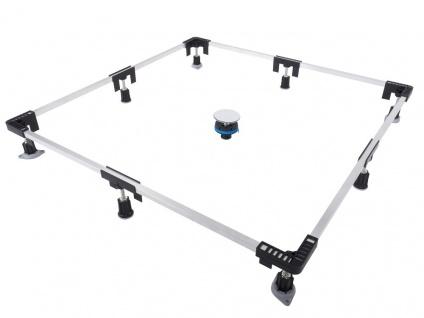 Montagerahmen für Duschwannen Duschwannenfuß Wannenfuß 75 x 75 bis 120 x 120 cm