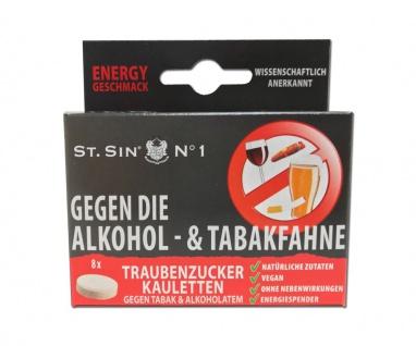 ST. SIN N°1 - 8 Energy-Geschmack Kaubonbons gegen Alkoholatem/Tabakatem!