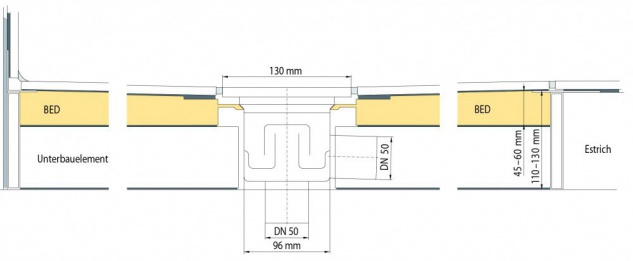 Duschboard + Ablauf bodengleiche duschen Duschelement Universalboard bodeneben - Vorschau 2