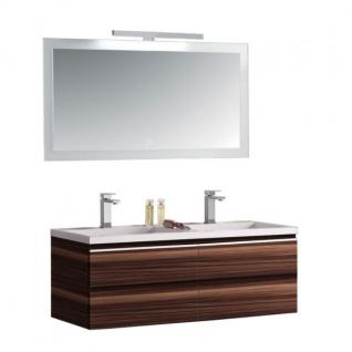 Badmöbel | Badezimmermöbel-Set Spiegel-LED Badmöbelset mit Mineralgusswaschbecken