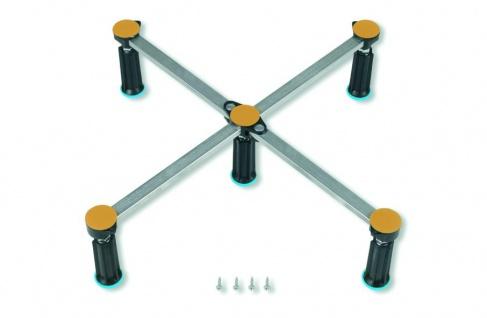 Duschwannenfuß Wannenfuß Stahl / Acryl Duschwannen 75x75-90x90cm Höhenverstellbar 87-115mm