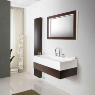 Badmöbelset Waschbecken Badezimmermöbel Spiegel unterschrank inkl. 2xSeitenschrank