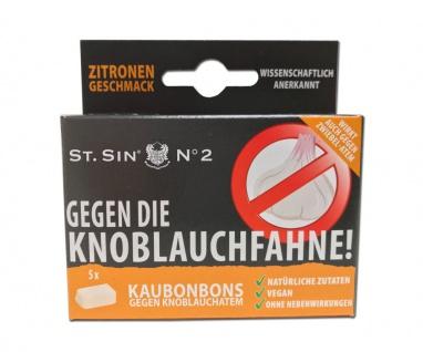 ST. SIN N°2 - 5 Zitronen-Geschmack Kaubonbons gegen Knoblauchatem/Zwiebelatem!