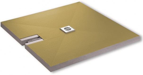 Duschboard Superflach 70mm inkl. Ablauf werkseitiger Abdichtung perfekt für die Renovierung 120x120x7
