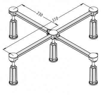 Duschwannenfuß Wannenfuß Stahl / Acryl Duschwannen 75x75-90x90cm Höhenverstellbar 125-185mm - Vorschau 2
